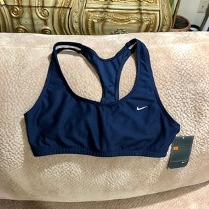 Nike New w/Tags Navy Sports Bra Top SZ L